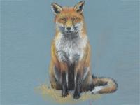 Red Fox art by instructor Ann Solyst