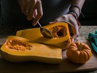 cooking butternut squash, photo AndreaDeLaParra/shutterstock