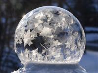 frozen ice bubble, photo Mike Shaw