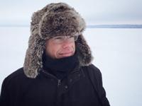 portrait of a man outside in winter, photo Eric Mueller