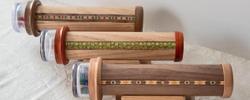 Kaleidoscopes made from wood, photo Eric Weischmann